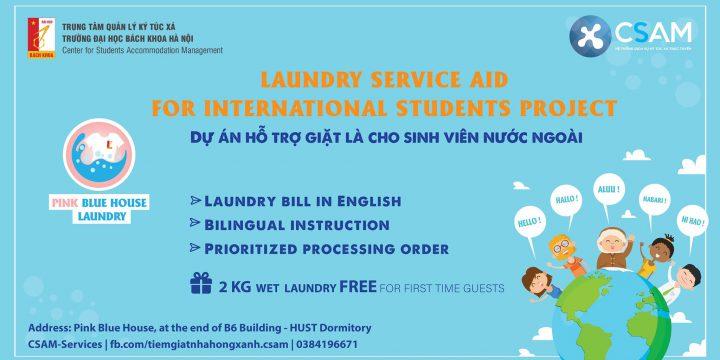 Hỗ trợ giặt là cho sinh viên nước ngoài